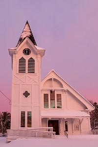 Church on the Plains Sunset