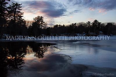 Sunset on Kingston Lake