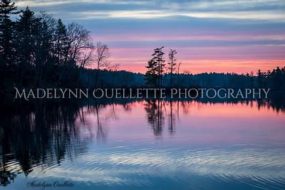 Sunset over Kingston Lake
