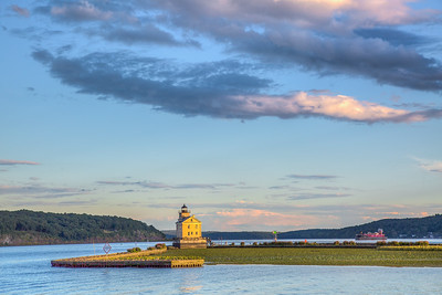 Rondout Light from Kingston Point Park, Hudson River, Kingston, New York, USA