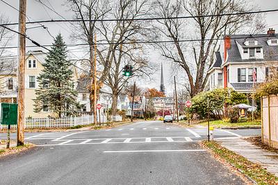 Main Street, with Washington Avenue crossing, Kingston, New York