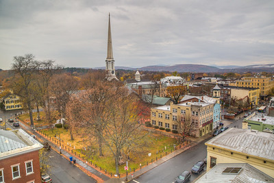 Shot from roof of Ulster County Office Bulding, Kingston, New York