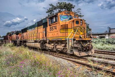 Train, Midtown Kingston, New York, USA