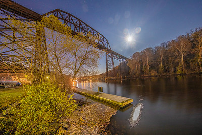 Train trestle over Rondout Creek along Abeel Street, Kingston, New York