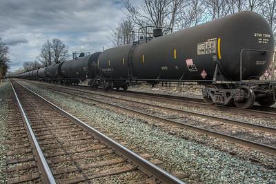 Oil Train in Kingston, New York, USA
