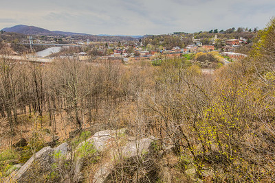 View of Rondout Area, from Hasbrouck Park, Kingston, New York, USA