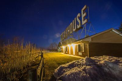 Skytop Steakhouse Sign, Kingston, New York, USA