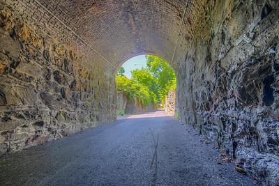 Old rail tunnel, part of Kingston Point Rail Trail, Kingston, New York, USA