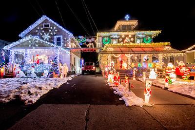 Christmas Lights on Derrenbacher Street in Kingston, New York