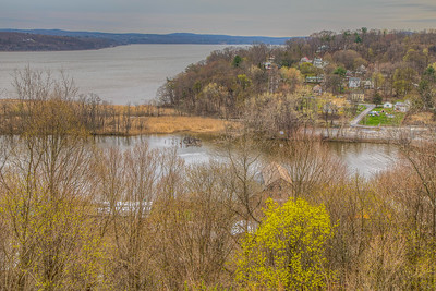 View of Hudson River from Hasbrouck Park, Kingston, New York, USA
