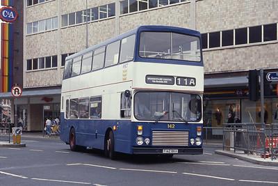 KHCT 142 Ferensway Hull Sep 89