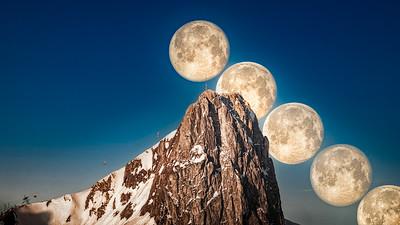 Mondserie am Stockhorn