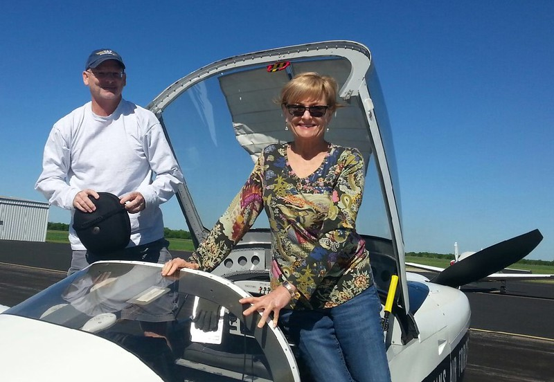 March 25, 2017. My older sister Donna about to get her very first ride in my airplane. She is a very special person and am lucky to have her as a sister.