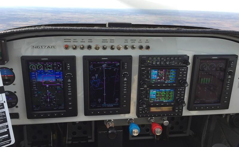 Enroute.  4,500'. Autopilot on.  Between VORs.  174kt GS.