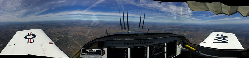 Pano on the way back.  Level 6,500 above the bumps.  44*F OAT.