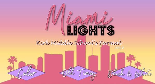 Kirk Midle School 8th Grade Formal 2018