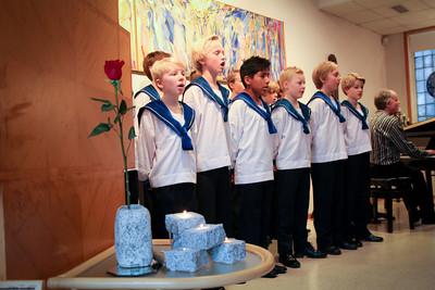 Sølvguttene deltok med julemelodier.