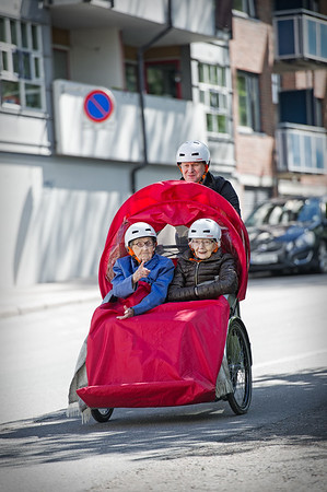 Sofienbergsenteret på El-sykkeltur 29.05.15