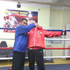 joking around with trainer and long time friend of Manny Pacquiao Robert Varron
