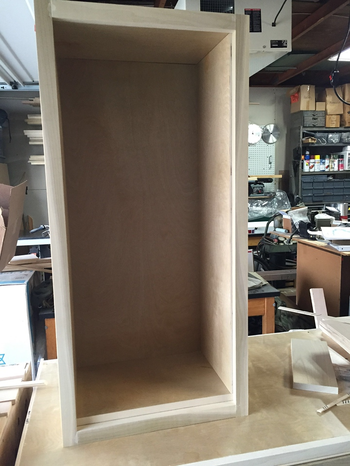 Dry-fit of the face frame for the wall cabinet.
