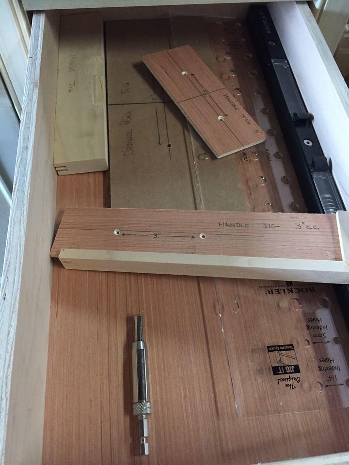 A drawer already being put to use: storing some jigs!