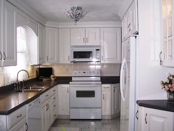 This is a kitchen renovation in an older, established home.