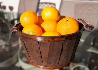 A Bucket of Florida Oranges