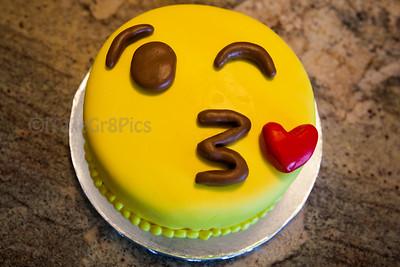 Kissy Emoji Cake