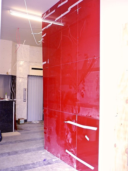 Glass Wall - Back Painted Reception Lobby - E1