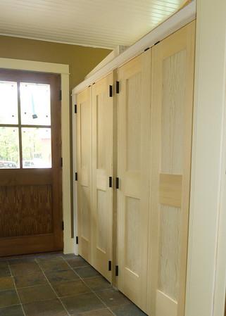Mudroom doors custom height clear pine