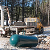 Propane tank is delivered (it gets buried behind the house)