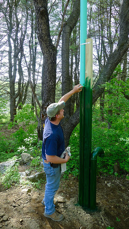 Seth Holmes camouflages the septic vent pipes