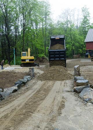 Driveway final layer of stone