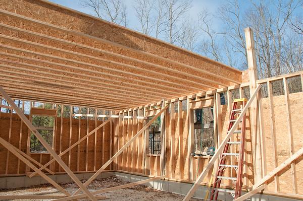 Barn 2nd floor framing -- engineered joists