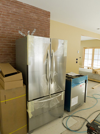 Stove and refrigerator on site