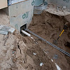 septic lines trenched from house