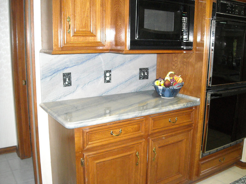 Stone Kitchen Top in Azul Imperial by Schlitzberger Stone Designs