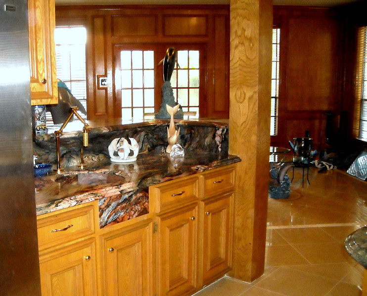 Kitchen Tops in Blue Fusion by Schlitzberger Stone Desings