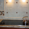 Miele cook-top<br /> Tile and tile design from Mosaic<br /> Tile work by Tommy Cohen of Tiles By Design