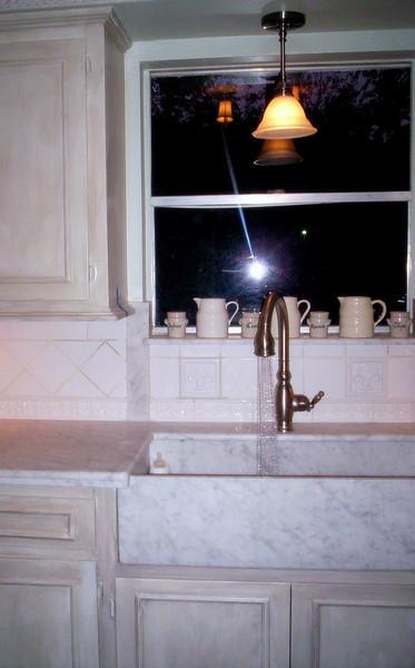 Carrera White Marble Kitchen by Schlitzberger