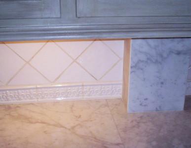 White Carrera Honed Kitchen