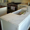 White Marble Kitchen by Schlitzberger