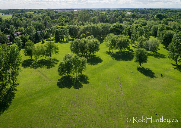 David Bartlett Park, Manotick, Ontario. Aerial photography.