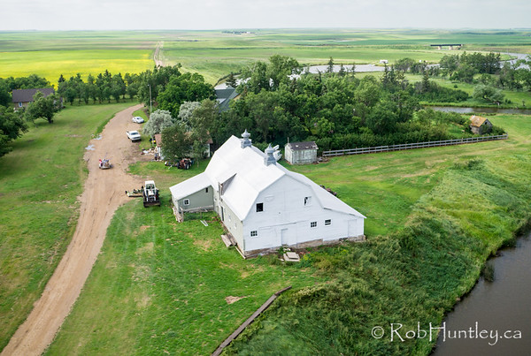 The barn at McMaster Manor B&B in Lafleche, Saskatchewan