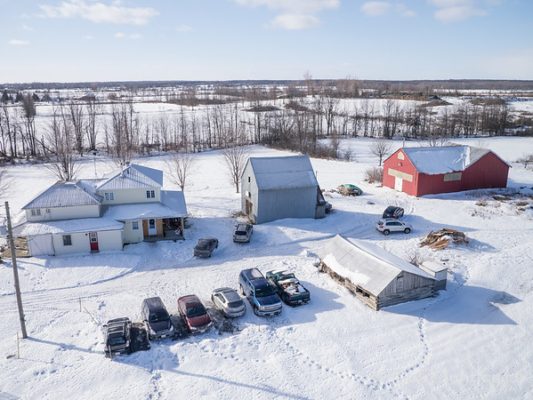 An Ontario country property in winter.