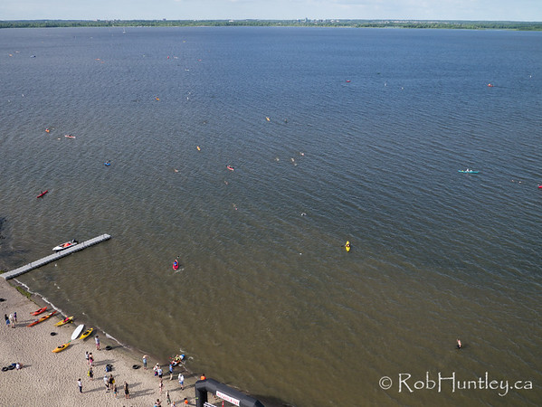 Ottawa Riverkeeper 4K Swim. Kite aerial photograph.