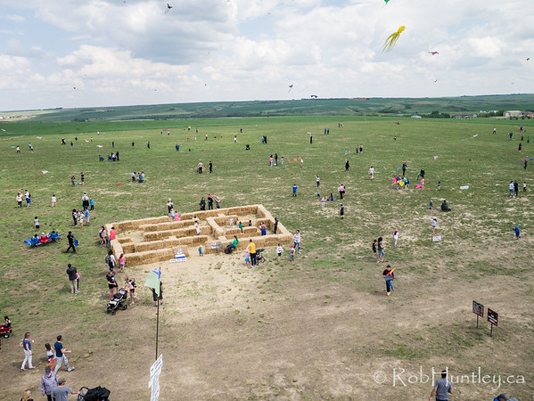 Windscape Kite Festival. Aerial Photography. Swift Current, Saskatchewan.