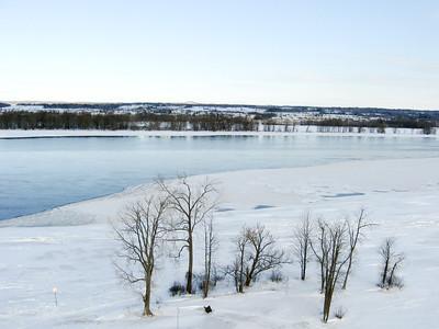 Winter Scene at Petrie Island on the Ottawa River.