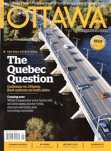 Ottawa Magazine Cover Uses My Champlain Bridge Aerial Photo