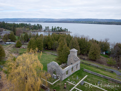Aerial Photograph of St. Mary's Church, Pinhey's Point Heritage Property and Park